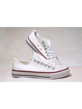 Sneakers Basket toile Blanc