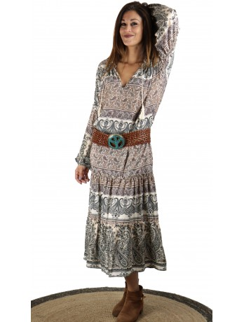 Robe longue dentelles Peonia