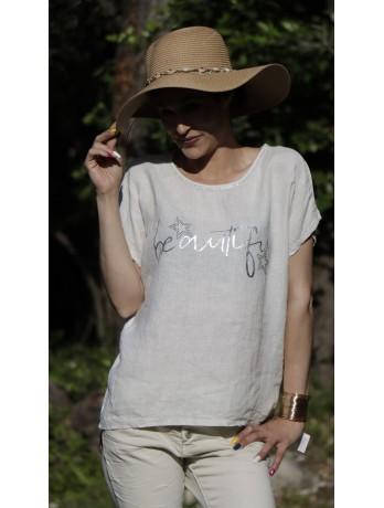 T-shirt beige Beautiful