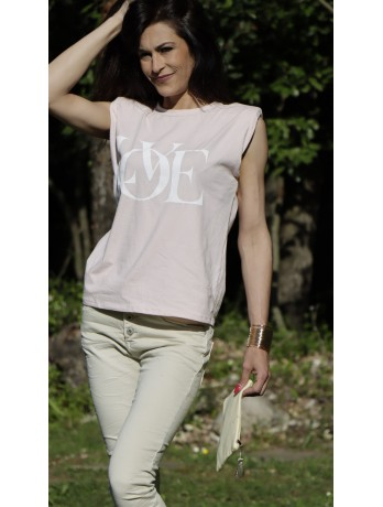 T-shirt épaulette Love